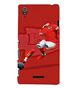 EPICCASE Football maniac Mobile Back Case Cover For Sony Xperia T3 (Designer Case)