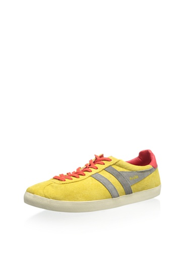 Gola Mens Trainer Suede,Mustard/Grey/Red,US 11 M
