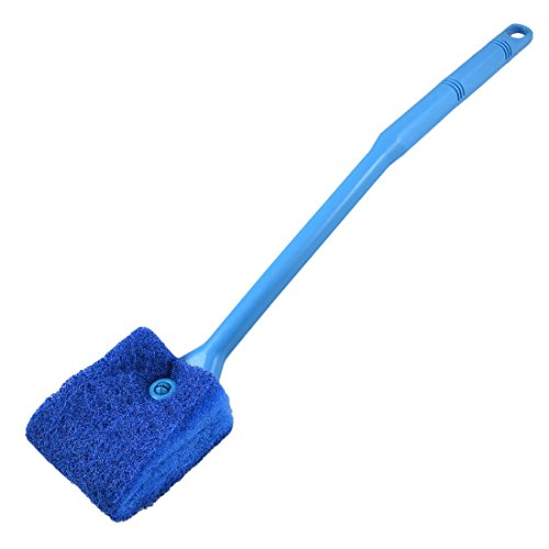 toogoor-aquarium-fish-tank-double-sided-sponge-cleaning-brush-cleaner-scrubber-yale-blue
