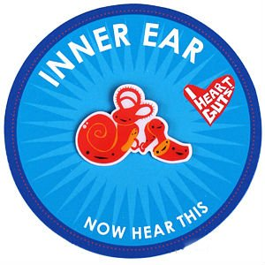 Inner Ear Lapel Pin Now Hear This I Heart Guts