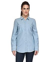 Kiosha Light blue Plain denim shirt