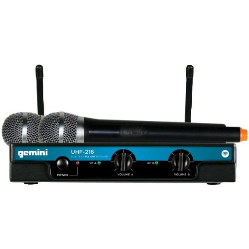 Gemini Uhf-216M Dual Channel Wireless Handheld Microphone System (Uhf-216M) -