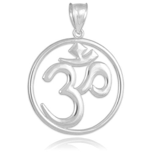 Silver Openwork Hindu Meditation Yoga Charm (Aum) Om Pendant