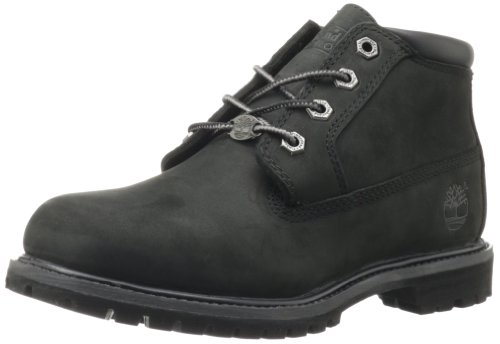Timberland Women's Nellie Double WP Ankle Boot,Black,8.5