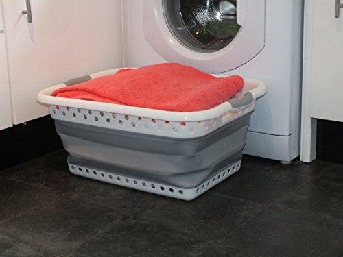Zusammenklappbarer Wäschekorb. Plastik & Silikon. Großer,...