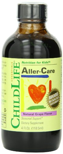 Child Life Aller-Care, Glass Bottle, 4-Ounce