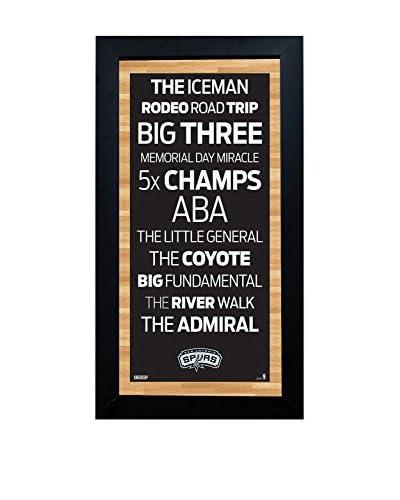 Steiner Sports Memorabilia Framed San Antonio Spurs Desktop/Wall Hangable Subway Sign Wall Art