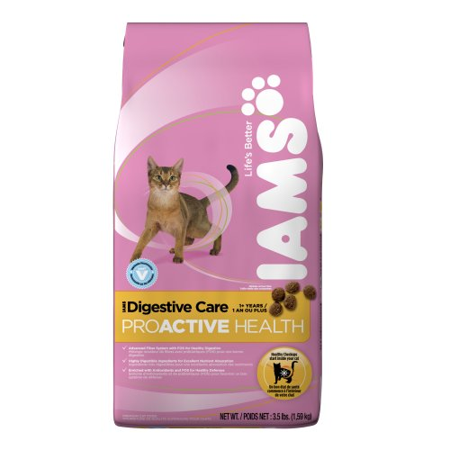 IAMS Digestive Care Proactive Health Dry Cat Food, 3.5-Pound Bags (Pack of 5)