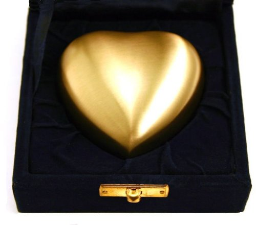 Star Legacy Brass Heart Keepsake with Velvet Box, Athena Bronze
