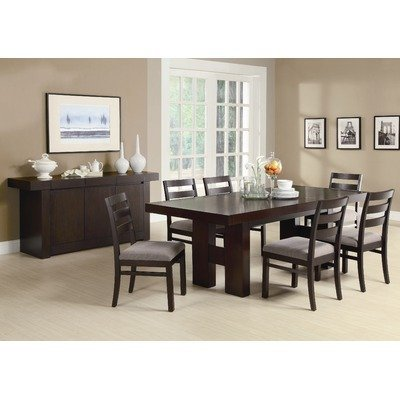 Antelope 7 Piece Dining Set In Cappuccino back-957020