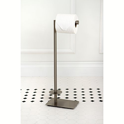 Kingston Brass CC8008 Claremont Freestanding Toilet Paper Holder, 22-3/4-Inch, Satin Nickel