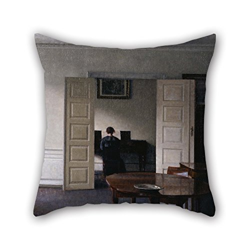 Slimmingpiggy Oil Painting Vilhelm Hammershøi - Interior With Ida Playing The Piano Pillowcover 18 X 18 Inches / 45 By 45 Cm Gift Or Decor For Bedroom,car Seat,bf,dance Room,birthday,indoor - Twic (Marvel Magic Mystery Oil compare prices)