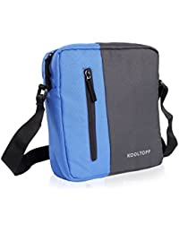 Kooltopp Men, Women, Girls, Boys Blue Polyester Sling Bag Walter Sling Bag, 11 Inch Tution Sling Bag, IPad Sling...