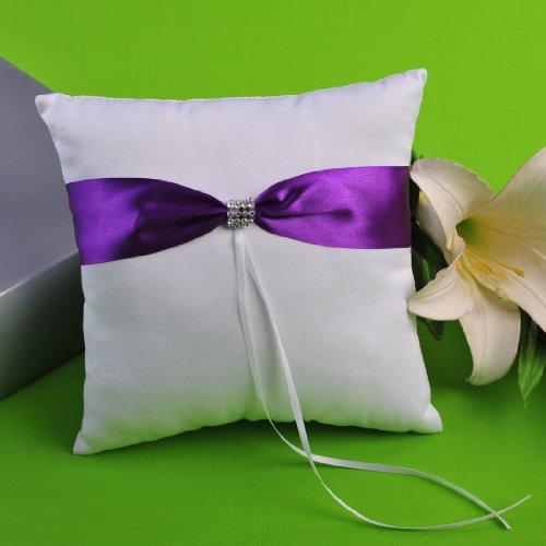 Amazon Purple Wedding Flower Basket And Ring Pillow