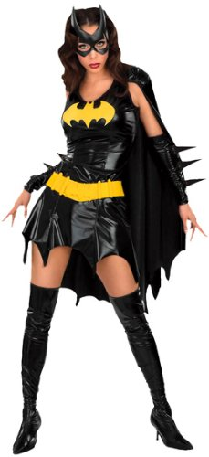 DC Comics Secret Wishes Sexy Deluxe Batgirl Adult Costume,Bat Girl Black,Small