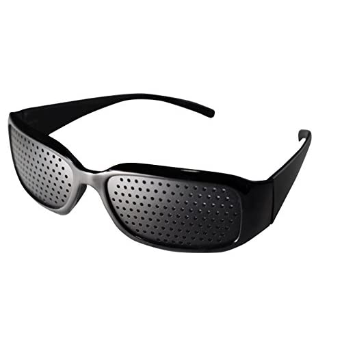 PENGIN(ペンギン) 私はこれで十分 パソコン用 眼鏡 PCメガネ ブルーライト 青色光 カット メンズ レディース 伊達メガネ PENGINロゴ入りグロス&ケース &ピンホール 4点セット (ピンホール(スクエア型)+メガネ(ブラック))