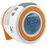 Grundig Sonoclock 230 Uhrenradio mit Wake-up Light, USB und microSD-Kartenschacht weiß/orange