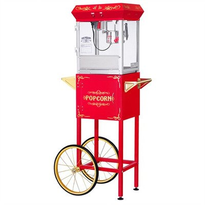 Great Northern Popcorn All Star Gnp - 400 4 Oz. Red Popcorn Machine & Cart