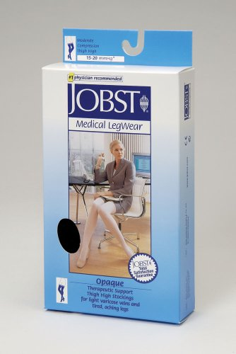 COMPRESSION STOCKINGS OPAQUE 15-20 THIGH HIGH OPEN TOE DOT HON MD (Full Length Compression Stockings compare prices)