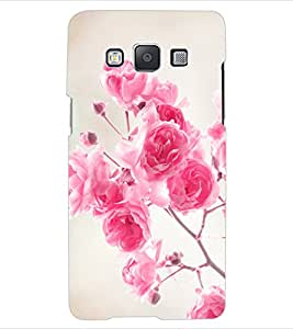 ColourCraft Beautiful Roses Design Back Case Cover for SAMSUNG GALAXY E5