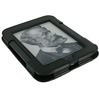 rooCASE Executive Portfolio Leather Case for Nook Simple Touch Reader (Black)