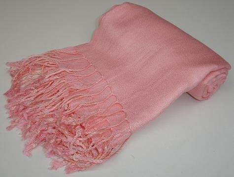 Kuldip Unisex Pashmina Scarf Shawl Wrap Throw Just Pink