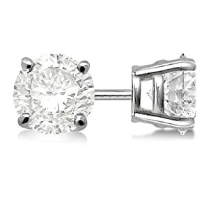 allurez 4 prong basket diamond stud earrings 18kt white gold g h vs2 si1 your 1. Black Bedroom Furniture Sets. Home Design Ideas