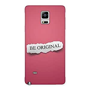 Stylish Be Orignal Multicolor Back Case Cover for Galaxy Note 4