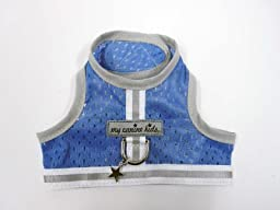 My Canine Kids Athletic Mesh Harness - Blue T4