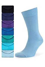 7 Pairs of Freshfeet� Cotton Rich Plain Socks with Silver Technology [T10-0103S-S]