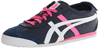 Onitsuka Tiger Women's Mexico 66 Lace-Up Fashion Sneaker,Dark Navy/White,5.5 M US