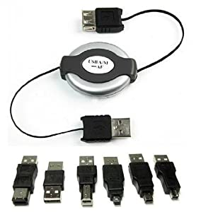 Neewer USB Firewire 1394 Cable Travel Kit 6 Adapter