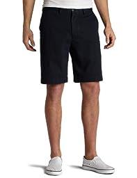 Nautica Men\'s Twill Flat Front Short,True Navy,32