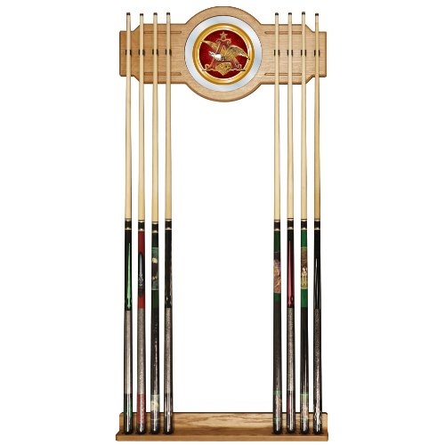 anheuser busch billiard cue rack with mirror sporting. Black Bedroom Furniture Sets. Home Design Ideas