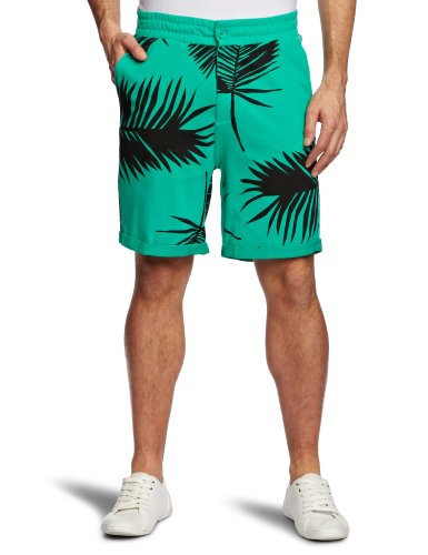 A Question Of Palm Silhouette Shorts With Turn Up Men's Shorts Green Large