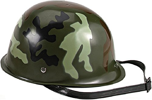 Novelty Camoflauge Camo Kids Childrens Toy Plastic Army Helmet