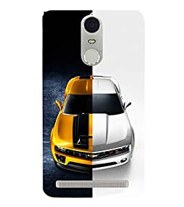 Dual Tone Luxury Car 3D Hard Polycarbonate Designer Back Case Cover for Lenovo K5 Note :: Lenovo Vibe K5 Note Pro