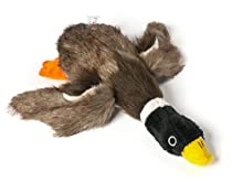 Dogloveit Mallard Duck Squeaky Dog Toys for Small Dogs Plush Dog Toys, 12-inch