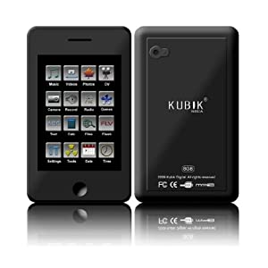 Kubik Roca 8GB Touchscreen MP3 and Video Player