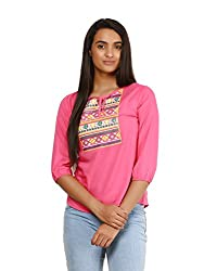 Mayra Women's Rayon Top (1604T09389_S Pink )