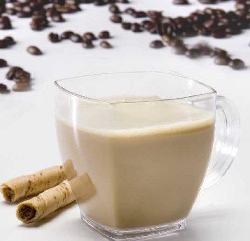 """Squares"" 8 Oz Coffee Mug Clear Case Of 96"