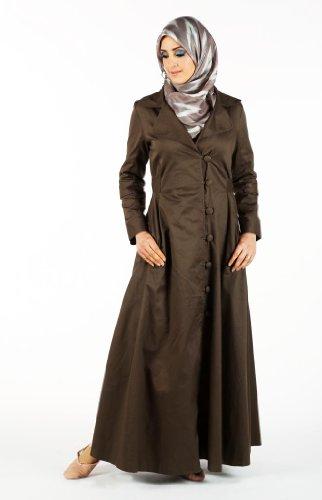 Comfortable Cotton Jacket, Khaki, 2XL