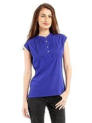 NUN Women's Body Blouse Shirt (NUNTU5271_Blue_XL)