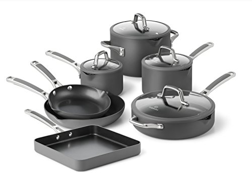 Simply Calphalon Easy System Hard Anodized Nonstick 11-Piece Cookware Set