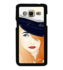 Fuson Premium 2D Back Case Cover Lady pilot With Pink Background Degined For Samsung Galaxy J3::Samsung Galaxy J3 J300F
