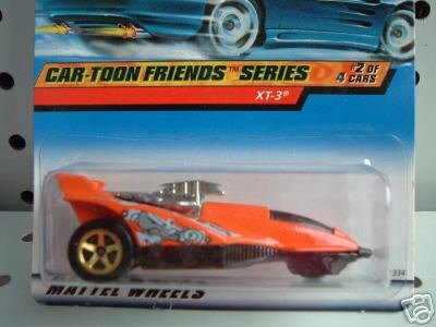 Mattel Hot Wheels 1999 1:64 Scale Car-Toon Series Green Red XT-3 Die Cast Car 2/4 - 1