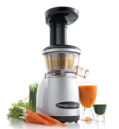 Best Price Omega Juicers VRT350X Heavy Duty Dual-Stage Vertical Single Auger Low Speed Juicer, Silve...