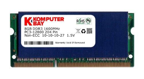 NEW 16GB 2 X 8GB Memory RAM SODIMM 204PIN DDR3-1333MHz PC3-10600 LAPTOP HP IBM