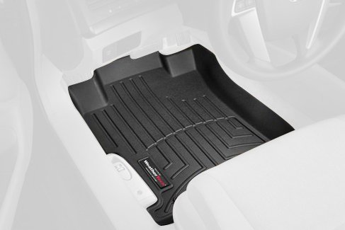 WeatherTech Custom Fit Front FloorLiner for Honda Accord (Black) (Weather Tech 2012 Honda Accord compare prices)
