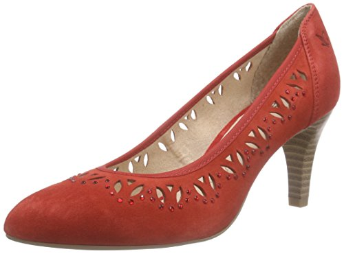Caprice22413 - Scarpe con Tacco Donna , Rosso (Rot (RED SUEDE 550)), 37.5